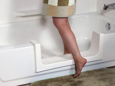 Walk-Through Tub Doors